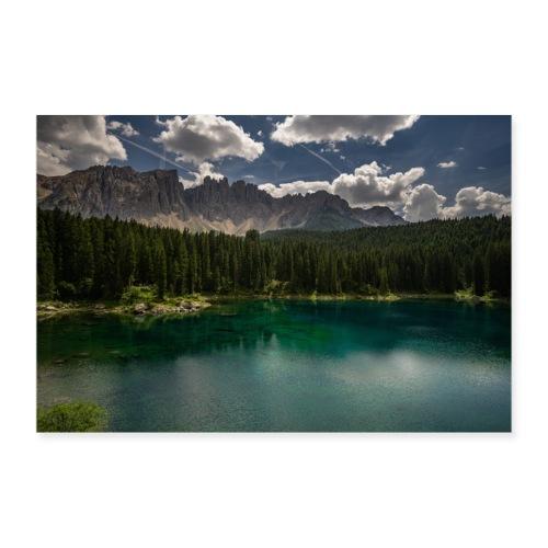 Karersee Dolomiten - Poster 90x60 cm