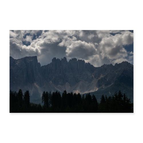 Dolomiten Latemar Gruppe - Poster 90x60 cm