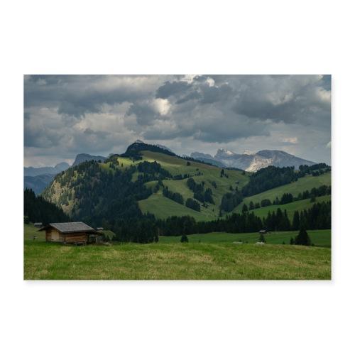 Seiser Alm Dolomiten - Poster 90x60 cm