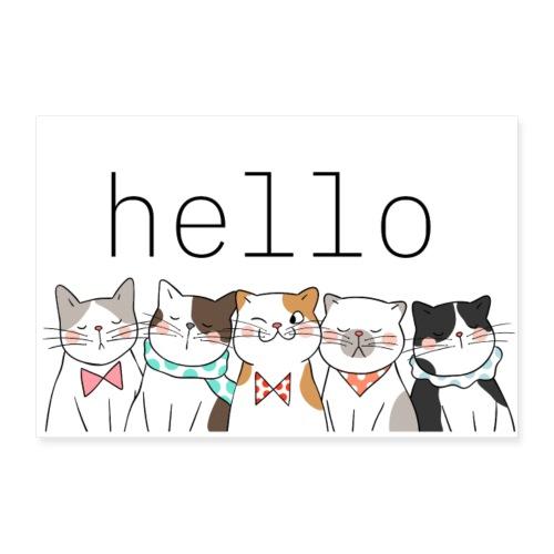 hello Cats - Poster 90x60 cm