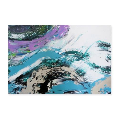 Abstrakt: Wellen - Poster 90x60 cm