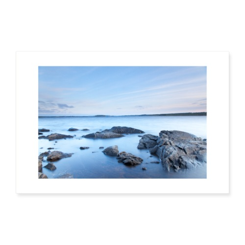 sunset on the lake - Poster 36 x 24 (90x60 cm)