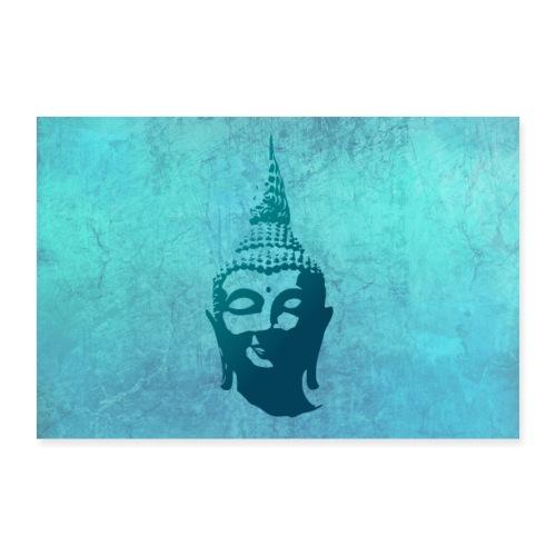 Boeddha hoofd - Poster 90x60 cm