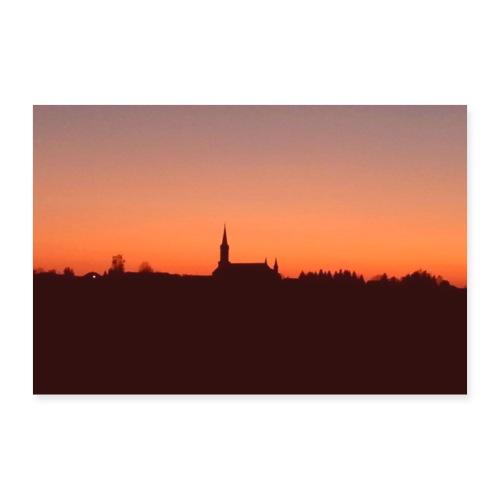 Wundervoller Sonnenuntergang - Poster 90x60 cm