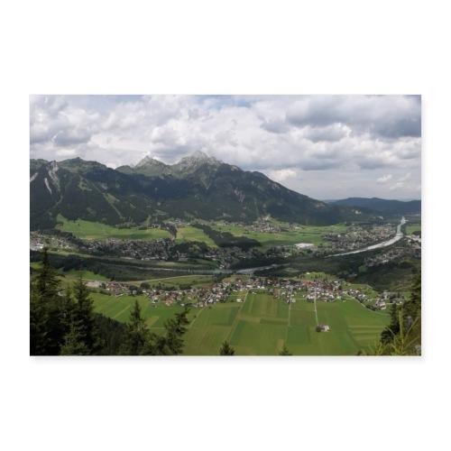 Bergpanorama Reute - Poster 90x60 cm
