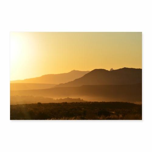 Morgenstimmung in der Wüste - Poster 90x60 cm