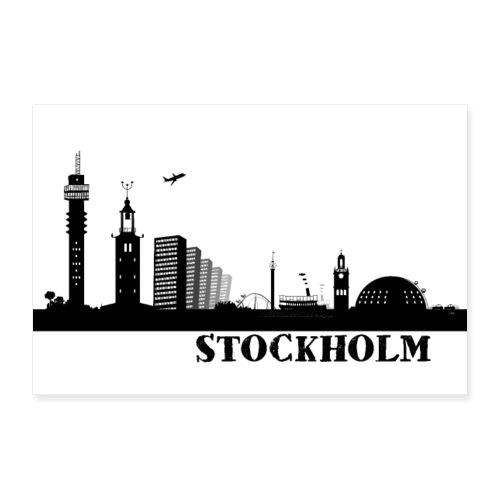 Stockholm - Poster 90x60 cm