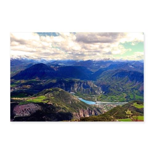 Poster Vue sur les Alpes de Haute-Provence - Poster 90 x 60 cm