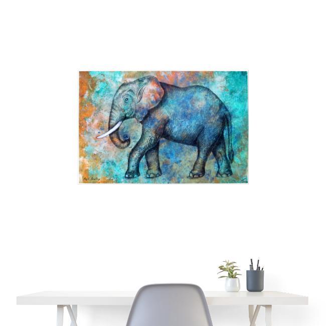 POSTER: Afrikanischer Elefant (Kunstwerk)