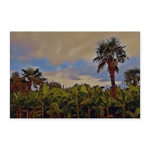 Bananen und Palmen - Poster 90x60 cm