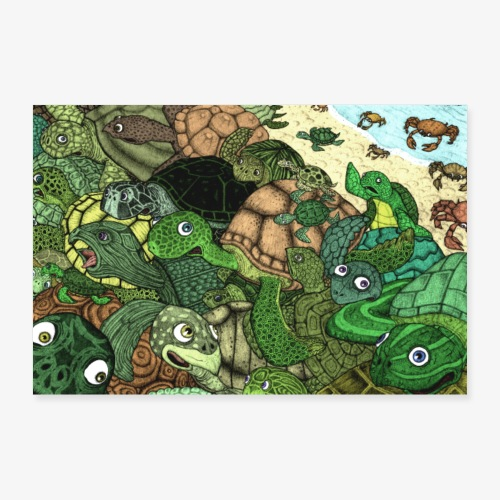 Crab Attack!! - Poster 90x60 cm