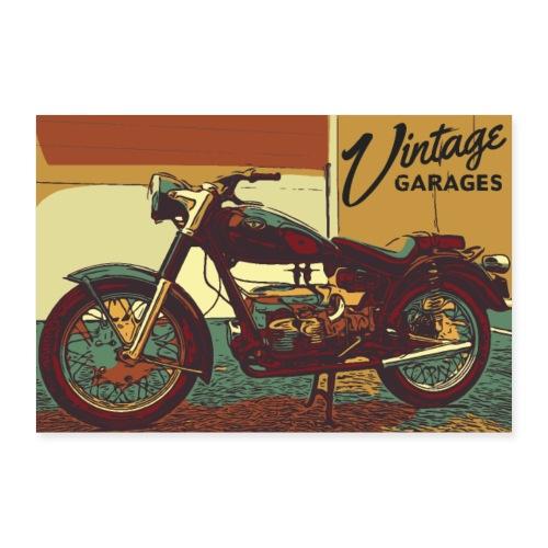 Vintage garage - Poster 30x20 cm