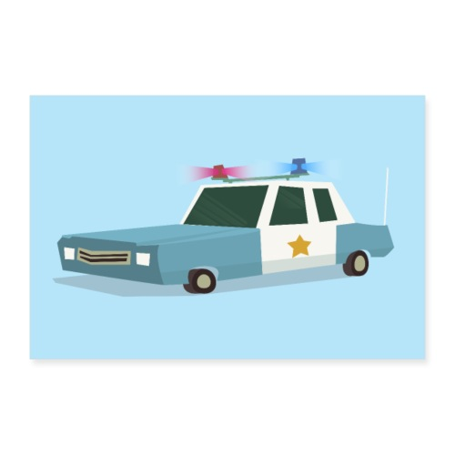 Funky Police Car Poster - 30x20 cm Poster