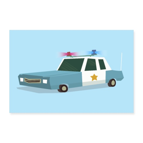 Funky Police Car to the rescue! - 30x20 cm Poster