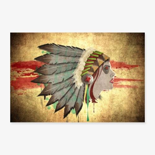Native american - Poster 30 x 20 cm