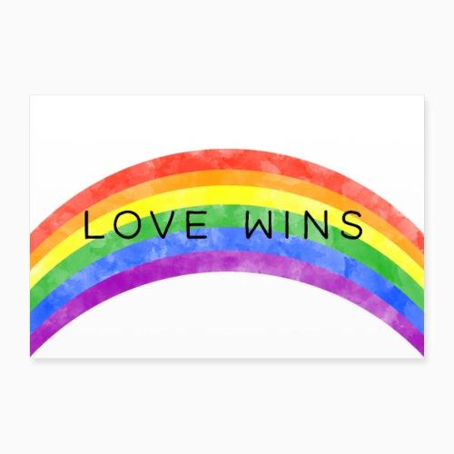 LoveWins Regnbue - Poster 12 x 8 (30x20 cm)