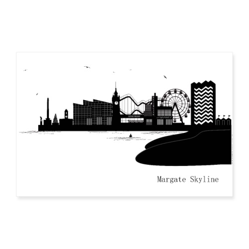 Margate Skyline - Poster 12 x 8 (30x20 cm)