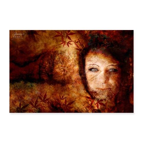 Farbphantasien -Herbststürme- - Poster 30x20 cm