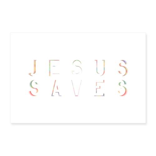 Jesus Saves Poster Wandbild - Poster 30x20 cm