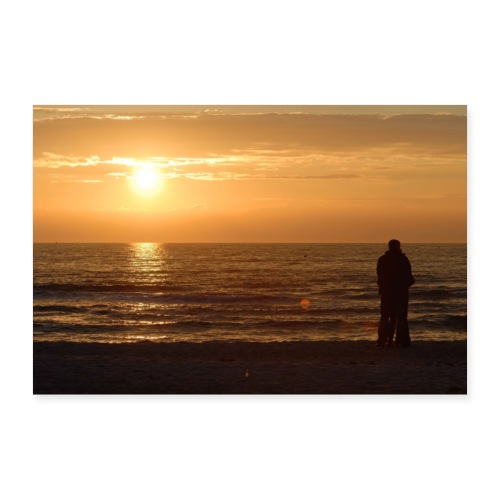 Zweisamkeit am Meer - Poster 30x20 cm