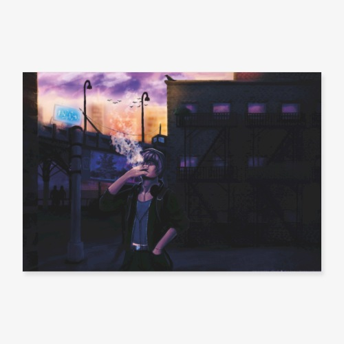 Sunset city - Poster 30 x 20 cm