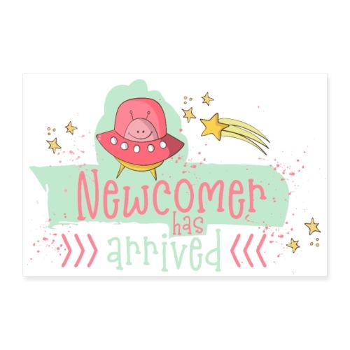 Newcomer: Baby ist geboren - Süßes Mädchen Design - Poster 30x20 cm