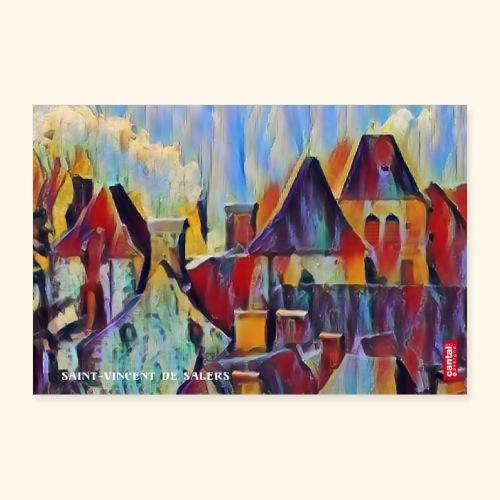 Saint vincent abstract - Poster 30 x 20 cm