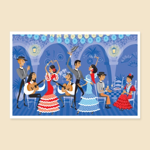 Tablao Flamenco Poster - Poster 12 x 8 (30x20 cm)