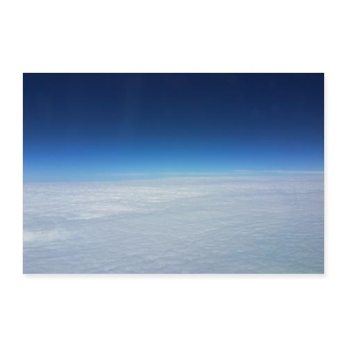 blauer Himmel, weiße Wolken - Flug über Australien - Poster 30x20 cm
