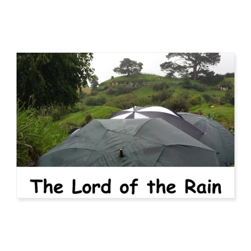 The Lord of the Rain - Neuseeland - Regenschirme - Poster 30x20 cm