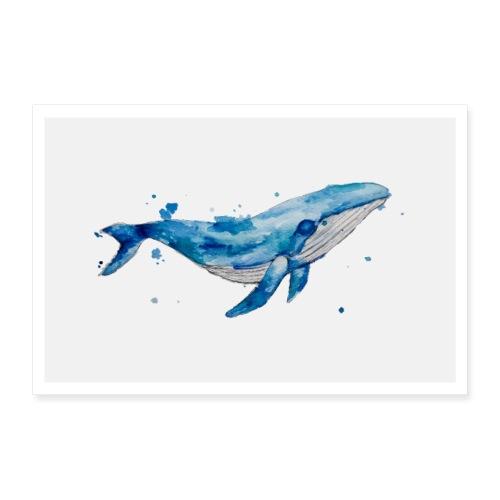 Blauwal Design Poster - Poster 30x20 cm