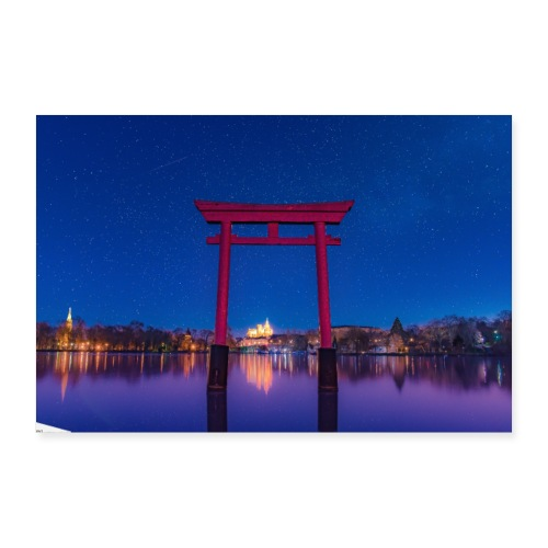 torii plan d eau metz - Poster 30 x 20 cm