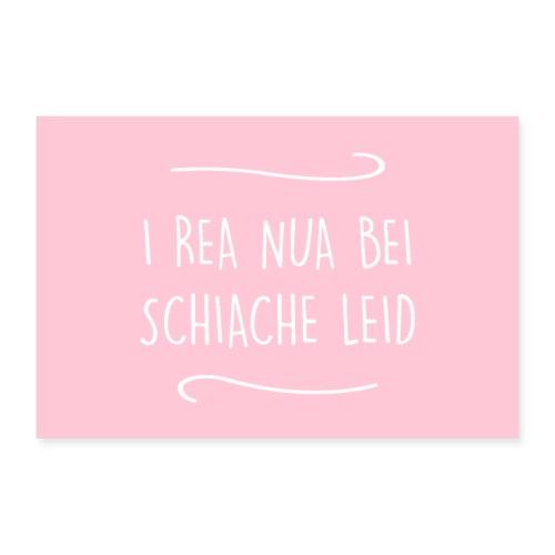 Vorschau: I rea nua bei schiache Leid - Poster 30x20 cm
