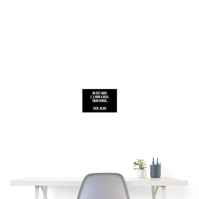 Vorschau: Zack blad! - Poster 30x20 cm