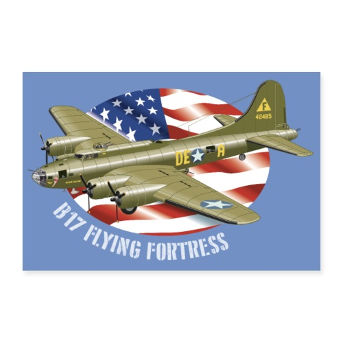 Poster B-17 Flying Fortress - Poster 30 x 20 cm