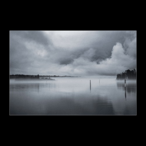 Usvainen Savonlinnan satama - Juliste 30x20 cm