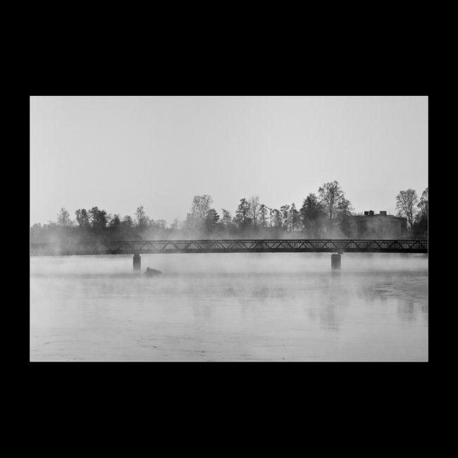 Savonlinnan torin silta talvipakkasessa