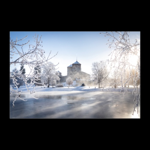 Talvinen Olavinlinna - Juliste 30x20 cm