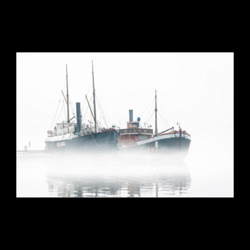 Usvainen Savonlinnan museolaiva - Juliste 30x20 cm