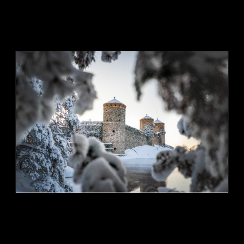 Olavinlinna talvella - Juliste 30x20 cm