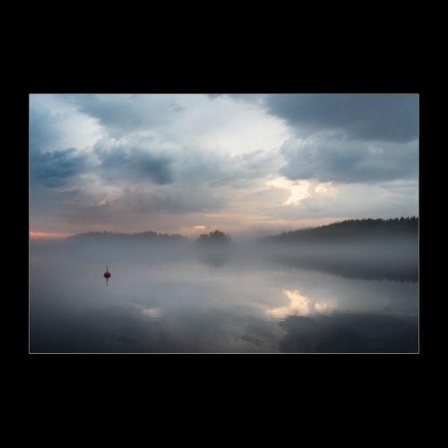 Sumuinen Saimaa - Juliste 30x20 cm
