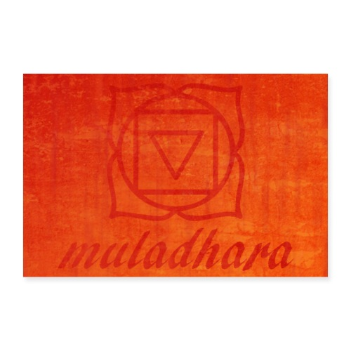 poster muladhara chakra hindu tantrism India yoga - Poster 30x20 cm