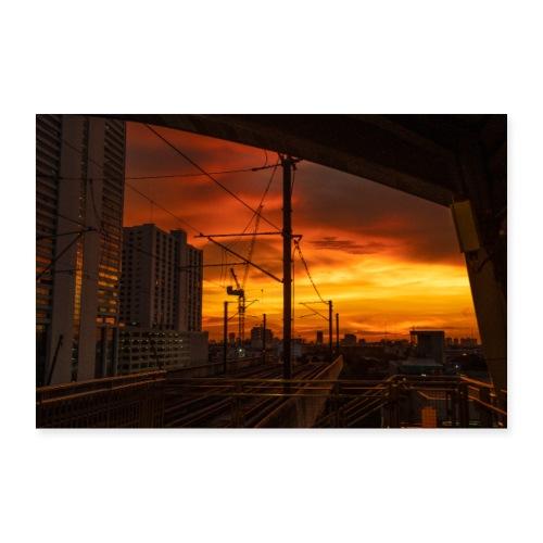 Bangkok Sunset - Poster 30x20 cm
