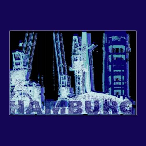 Hamburger Hafen: Künstler-Motiv im Siebdruckstil - Poster 30x20 cm