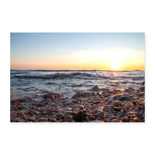 Coucher du soleil sur la plage de Carro - Poster 30 x 20 cm