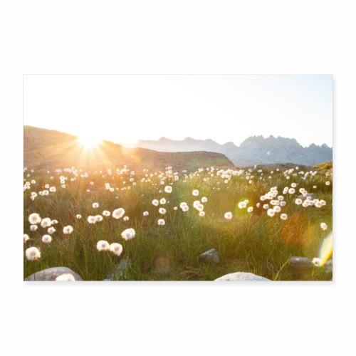 Coucher du soleil dans les Alpes - Poster 30 x 20 cm