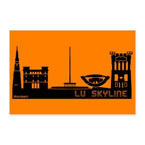 Poster: Lu Skyline arancio sunset - Poster 30x20 cm