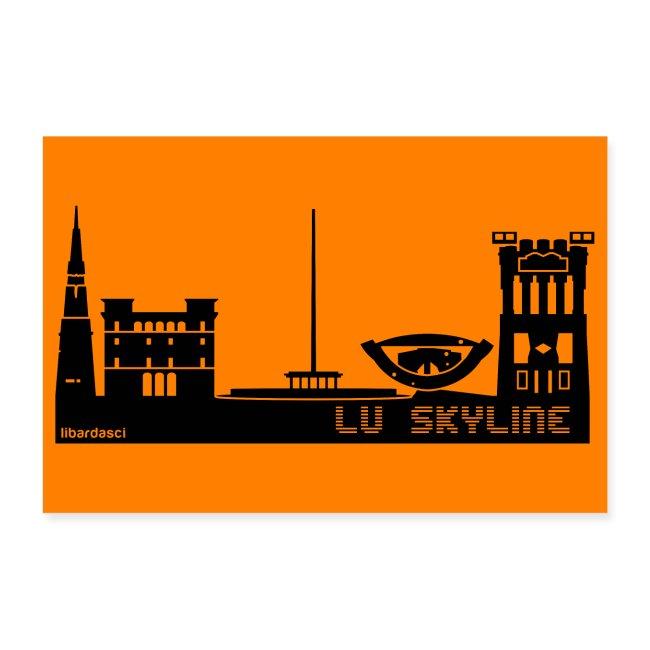 Poster: Lu Skyline arancio sunset