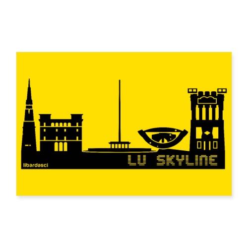 Poster: Lu Skyline giallo senape - Poster 30x20 cm