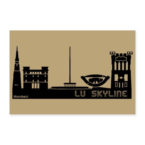 Poster: Lu Skyline tortora - Poster 30x20 cm